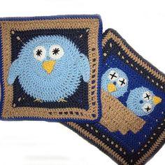 Bird Granny Square PATTERN PDF Crochet nest 2 by FlowersandMore, $8.00
