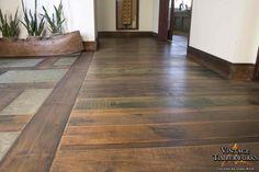 Reclaimed Teak Wirebrushed Flooring