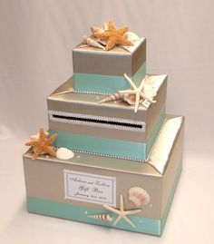 Beach Wedding Themed Wedding Card Box Holder On Etsy 9500