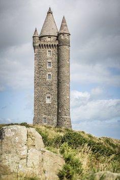 Scrabo Tower, overlooking Newtownards, County Down, Northern Ireland.