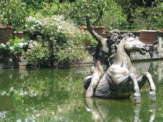 Giambologna, Perseus On His Winged Horse, Pegasus, c.1576, Bobolink Gardens, Florence, Italy