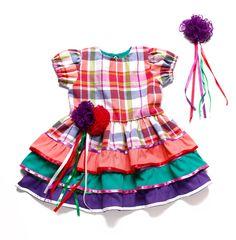 Vestido Xadrez - Festa Junina