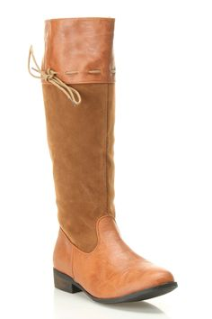 Tie Shaft Boot In Cognac