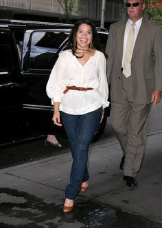 America Ferrera is only 5 ft tall, and she looks great with a belt.