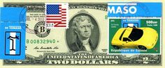$2 DOLLARS 2013 STAR STAMP CANCEL DE TOMASO ITALIAN SPORT LUCKY MONEY VALUE $500 Two Dollars, Stamp, Ebay, Money, Sport, Gift, Deporte, Silver, Stamps