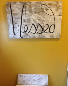 Rustic Wooden Wall Art  Blessed by simplicityreigns on Etsy