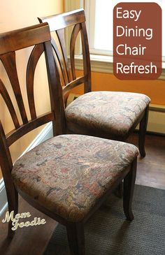 reupholster dining chairs easy diy project - Reupholstered Dining Room Chairs