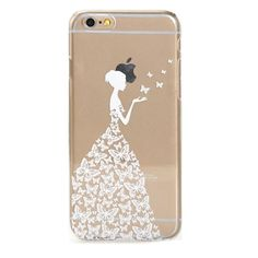 Amazon.com: 5C Case, iPhone 5C Case -LUOLNH Design Princess Clear Pattern Premium ULTRA SLIM Hard Cover for iPhone 5C - White: Cell Phones & Accessories