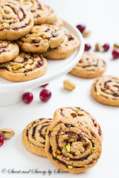 Date, Fig and Cranberry Pinwheel Cookies ~Sweet and Savory by Shinee