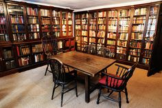Charles Dickens' library, now part of the CD museum.