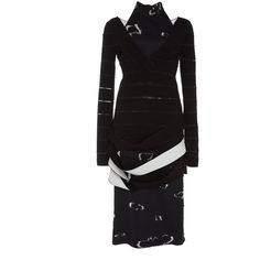Proenza Schouler Fil Coupe Long Sleeve Pencil Dress ($3,985) ❤ liked on Polyvore featuring dresses, knee length dresses, longsleeve dress, pencil dress, long sleeve knee length dresses and long sleeve pencil dress
