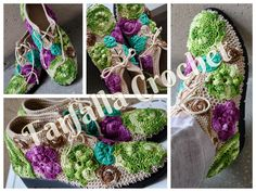 Crochet shoes, irish style