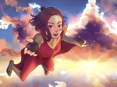 #sky #airbender #avatar #clouds #flying #legendofkorra #jinora #jinoraairbender