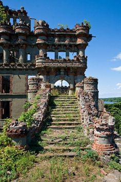 ...Bannerman's Island on the Hudson River south of Newburgh, north of Cold Spring, NY