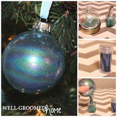 Easy DIY Christmas Ornaments: #2 nail polish and glitter