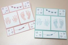 Hallo Baby - Endloskarte zur Geburt mit Produkten von Stampin up
