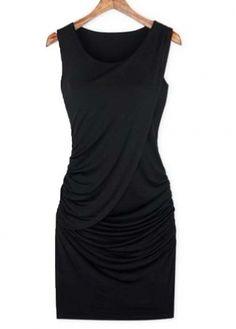 Draped Dress in Black