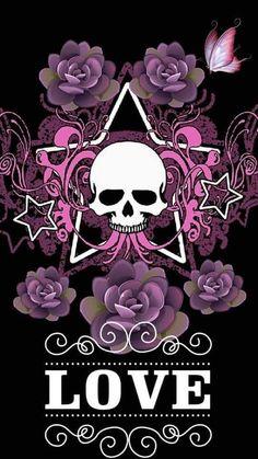 Sassy Wallpaper, Goth Wallpaper, Wallpaper Iphone Love, Flower Phone Wallpaper, Locked Wallpaper, Screen Wallpaper, Wallpaper Quotes, Sugar Skull Tattoos, Sugar Skull Art