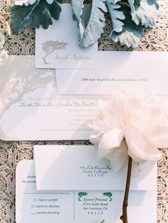 Dark Green and Gray Wedding Invitations | photography by http://www.lisaodwyer.com