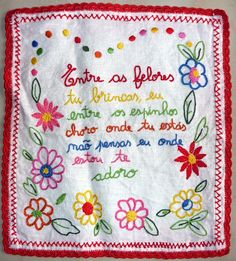 Bordados de Amor Simple Embroidery, Embroidery Designs, Needlepoint, Needlework, Cross Stitch, Bullet Journal, Knitting, Sewing, Handmade
