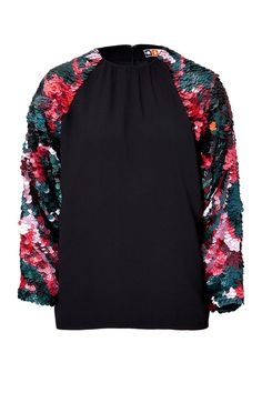 MSGM Jersey Embellished Sleeve Sweatshirt