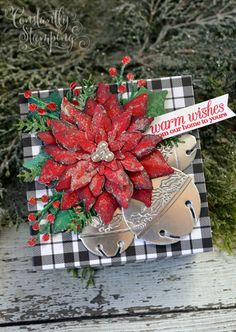 GDP271ConnieCollins-001 copy Stampin Up Christmas, Christmas Crafts, Poinsettia Cards, Stampin Up Cards, Pop Up, Paper Crafts, Gift Wrapping, Seasons, Creative