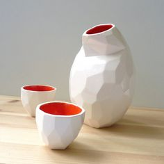 Sake set - Modern design sake set - design sake - faceted set to drink liquor…