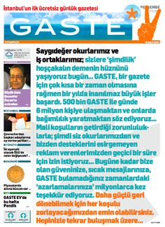 Gaste (2008 - 2009), Istanbul (Turley), last issue Newspaper Cover, Istanbul, Turkey, Free, Turkey Country