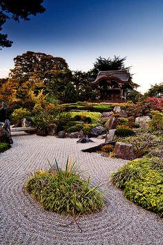 Japanese garden in Kew Gardens during Autumn.