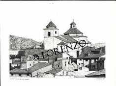 Hellin, Ermita San Rafael. Dibujo a plumilla sobre papel