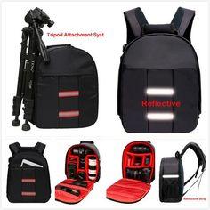 Top Universal Reflective DSLR Camera Bag Waterproof tipod Photo case Small Compact Tablet Camera Backpack for Canon Nikon Sony - SaveMajor.com