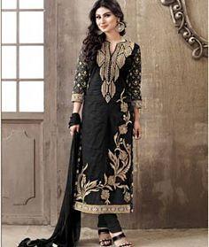 Salwar Kameez Online - Buy Indian Salwar Suits, Designer Wedding & Bridal Dresses for Sale Designer Salwar Suits, Designer Dresses, Designer Sarees, Mouni Roy Dresses, Indian Salwar Suit, Girl Fashion, Fashion Dresses, Salwar Kameez Online, Straight Dress