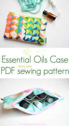Essential Oils Cosmetic Case Travel Bag PDF Download sewing