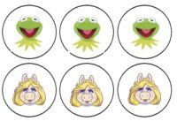 free printable Muppets cupcake toppers