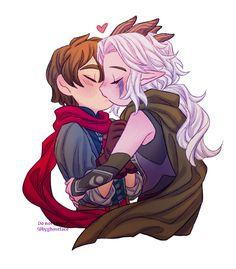 Cute Couple Comics, Cute Couple Cartoon, Black Girl Cartoon, Anime Love Couple, Prince Dragon, Dragon Princess, Rayla X Callum, Character Art, Character Design