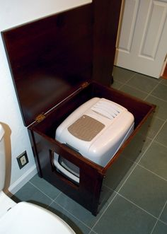 Kitty litter box redefined.  Love this for that far off day when we have a cat.