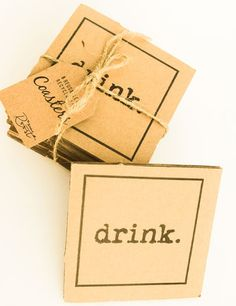 The name says it all......Set of 8 corrugated cardboard coastersperfect for your.... you guessed it....drink!