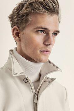 ♂ Masculine and elegance man's fashion wear beige off white