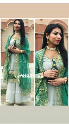 jot❤ Punjabi Suits Designer Boutique, Boutique Suits, Indian Suits, Indian Wear, Pakistani Suits, Plajo Suit, Suits For Women, Clothes For Women, Beautiful Suit