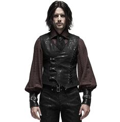 Steampunk Vest, Gothic Steampunk, Family Outfits, Cool Outfits, Fashion Outfits, Men Fashion, Gothic Tops, Punk Rave, Outfits