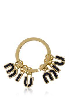 Miu Miu Metal Smalto Key Ring