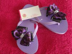 Pretty in Purple Toddler Embellished Flip Flops $7.50