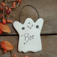 Cute, little salt dough ghost!