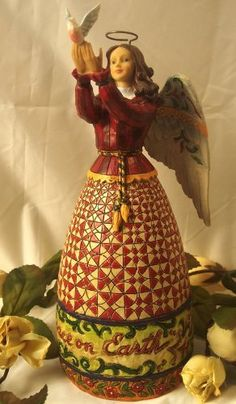 Jim Shore - Heartwood Creek - Collectible Figurine - Angel with Dove by Enesco - 4005273 by Jim Shore - Heartwood Creek, http://www.amazon.com/dp/B004YWRJ7W/ref=cm_sw_r_pi_dp_3a57qb174GF7M