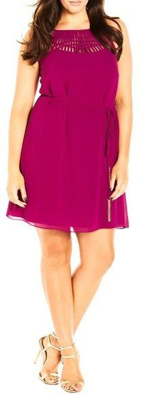 Plus Size 'Caged In' Tunic Dress