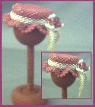Beaded Miniaturre Pink Hat Pattern by De Lynn Nelson at Bead-Patterns.com