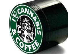 Custom Herb Weed Grinder Starbucks Inspired Best gift