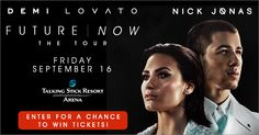 Check out this Demi Lovato & Nick Jonas Live Nation Phoenix Ticket Giveaway