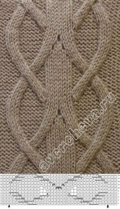 Zopfmuster – Awesome Knitting Ideas and Newest Knitting Models Cable Knitting Patterns, Knitting Stiches, Knitting Charts, Easy Knitting, Knit Patterns, Crochet Stitches, Stitch Patterns, Celtic Patterns, Cable Chart