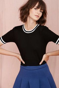 Varsity Crop Sweater | Shop Tops at Nasty Gal